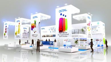 OCTAL booth rendering at Interpack